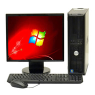 """FAST DELL DUAL CORE DESKTOP COMPUTER WIN 7, KEYBOARD, MOUSE, 19"""" LCD"""
