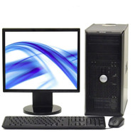 "DELL DUAL CORE 2 DUO 3.0 GHZ TOWER DESKTOP PC 4GB 250GB, WIN 7 PRO, 19"" LCD"
