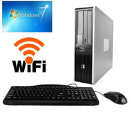 HP Desktop Computer PC  Core 2 Duo 2.60GHZ 4GB 160GB DVD Windows 7 PRO WiFi