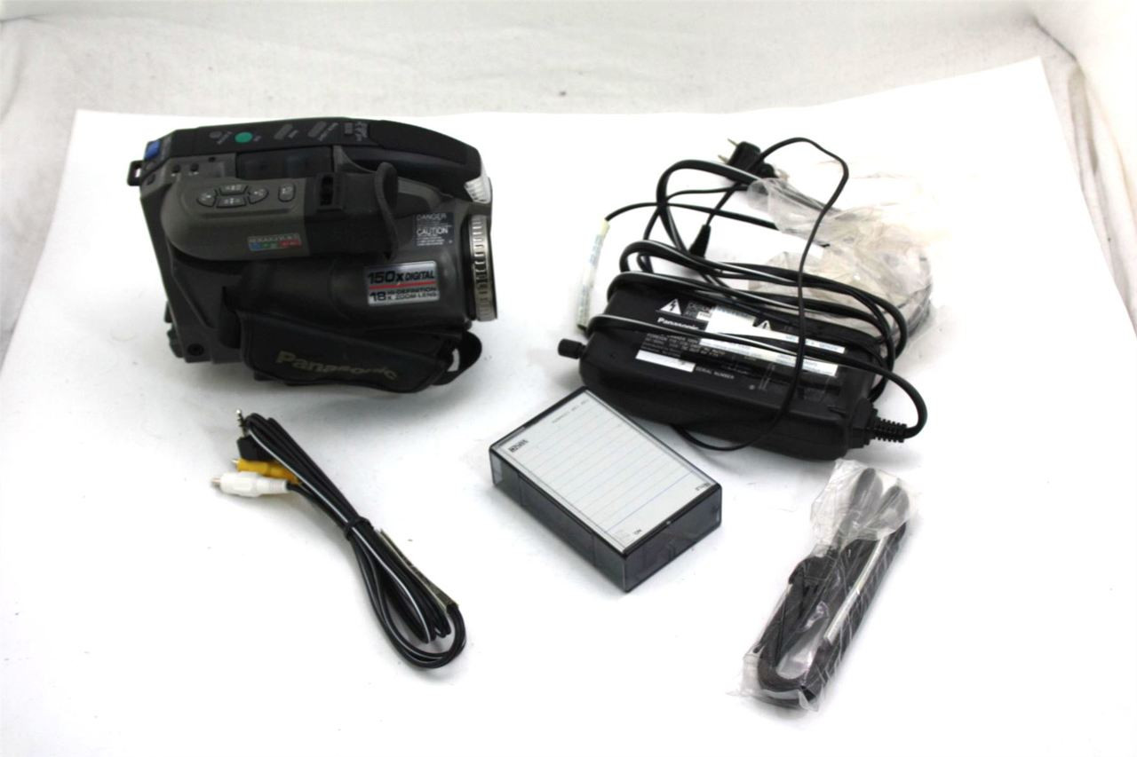 Genuine Panasonic Pv D300d Palmcorder Camera Vhs C Camcorder W Ac Adapter Not Battery Sunset Micro