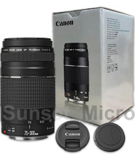 Genuine Canon EF 75-300mm F4-5.6 III Telephoto Zoom Lens 6473A003 NEW IN BOX