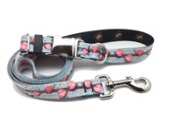 Pink Leaves - Medium Collar