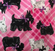 Scotties in Pink Plaid