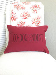 CO-DOGPENDENT is beautiful wine colored canvas