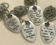 Flatten Spoon Necklace with Quote