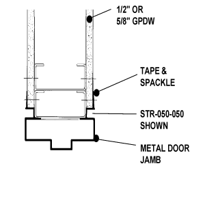 "Aluminum Drywall Trim / Z Shadow Bead 1/4"" x 1/4"" Primed for Painting 8'-0"" Lengths (STR-025-025)"