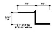 """Z Shadow Bead Aluminum STR-063-063 5/8"""" W x 5/8"""" D x 8' Lg."""