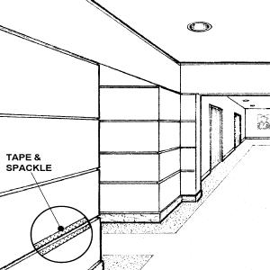 """Wall Reveal Aluminum Bead SWR-025-050 1/4"""" W x 1/2"""" D x 10' Lg."""
