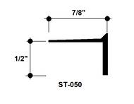 """L Bead Aluminum Edge Trim ST-050 1/2"""" Depth x 8' Lg."""