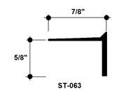 """L Bead Aluminum Edge Trim ST-063 5/8"""" Depth x 8' Lg."""