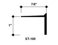 """L Bead Aluminum Edge Trim ST-100 1"""" Depth x 8' Lg."""