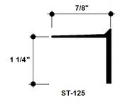 """L Bead Aluminum Edge Trim ST-125 1-1/4"""" Depth x 8' Lg."""