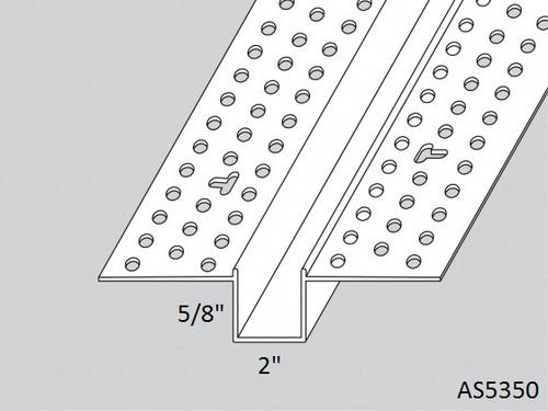 "AS5350 5/8"" x 2"" Vinyl Wall Reveal 8'-0"" Lengths"
