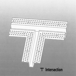 """Drywall Bead T Intersection Vinyl 1/4"""" x 1/4"""" Architectural Drywall Series"""