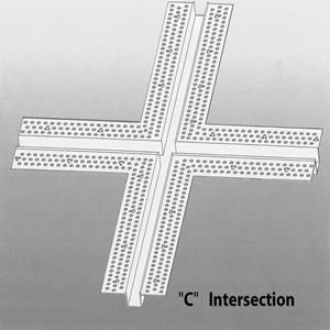 """Drywall Bead Cross Intersection Vinyl 1/2"""" x 1"""" - Architectural Drywall Series"""