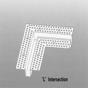 """L Bead Intersection Vinyl 5/8"""" x 1/2"""" - Architectural Drywall Series"""