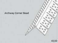 "Archway Corner Bead Vinyl 4110 1-1/4"" Legs x 8' Lg."