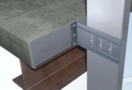 VertiClip® SLB Light Gauge Steel Connector - Vertical Deflection Bypass Slab Clip