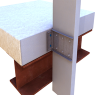 StiffClip® LB-HD Exterior Wall Stud to Structure Connection Bypass Slab per Box 25 Qty.