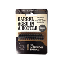 Oak spiral barrel age in a bottle package