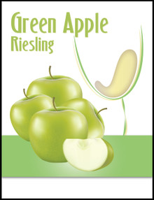 Green Apple Riesling Wine Bottle Labels