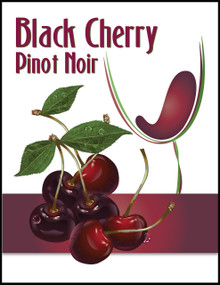 Island Mist Black Cherry Pinot Noir Labels