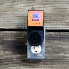 Anvil Brewing Temperature Controller mounted on receptacle