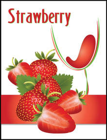 Island Mist Strawberry Wine Bottle Label