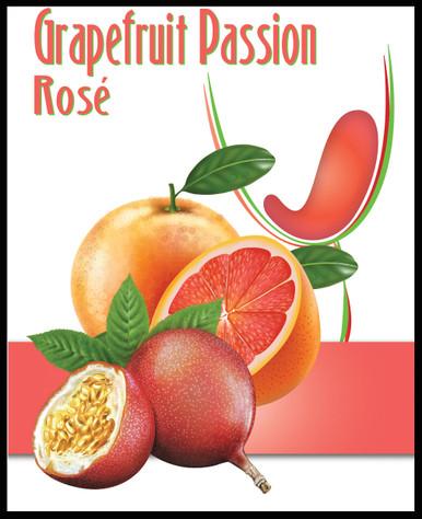 Grapefruit Passion Wine Label