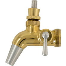 Intertap Gold Plated Forward Sealing Faucet with Flow Control