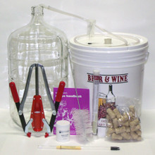 Vintner's Best® Wine Making Equipment Kit with Plastic Carboy
