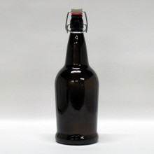 1 Liter Amber Flip Top Bottle