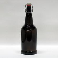 1 Liter Amber Flip Top Bottle