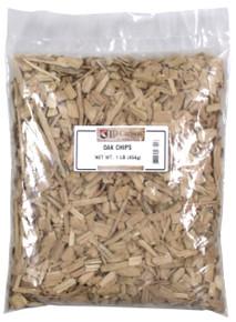 1 pound bag of American light toast oak chips