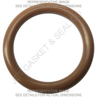 "-205 ORING 75 DURO BROWN FKM/VITON QTY 20 7/16"" ID 11/16"" OD 1/8"" TH"