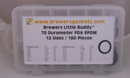 ORING KIT BREWERS LITTLE BUDDY FDA EPDM