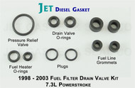 POWERSTROKE 7.3L FUEL FILTER DRAIN VALVE O-RING KIT