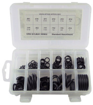 SCUBA STANDARD O-RING KIT 12 SIZES 166 PIECES BUNA