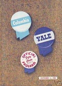 Columbia v. Yale Football Program 1952