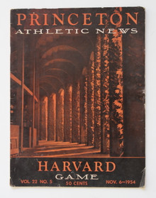 Princeton v. Harvard Football Program 1954