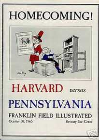 Harvard v. Penn Football Program 1965