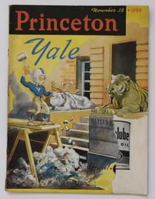 Princeton v. Yale Football Program 1950