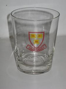 Harvard Cocktail Glass - Logo