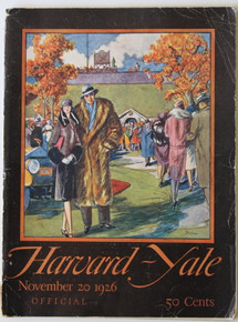 Harvard v. Yale Football Program 1926