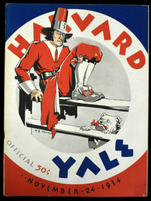 Harvard v. Yale Football Program 1934