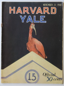 Harvard v. Yale Football Program 1940