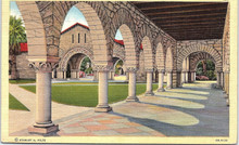 Stanford Postcard - Arches in Memorial Court