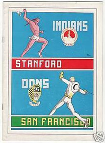 Stanford v. San Francisco Football Program 1934