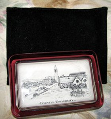 Cornell Eglomise Paperweight