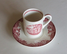 Harvard Wedgwood Demitasse Cup & Saucer Old College
